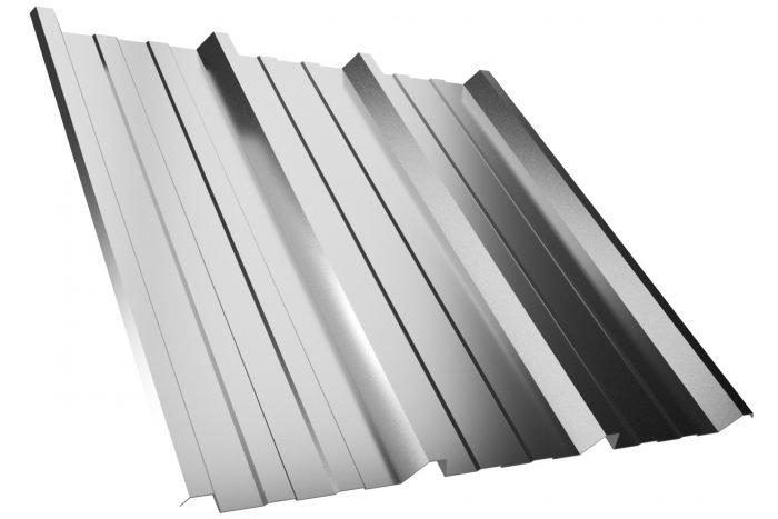 Dachplatte T45P Aluzink