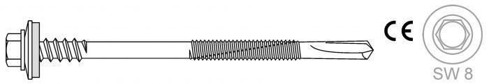 Montage von Sandwich-Profilen auf Stahlunterkonstruktionen max. Bohrleistung 14 mm - Bohrschrauben BR 5 HT 16 5.5 x L