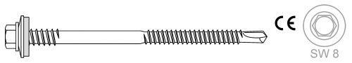 Montage von Sandwich-Profilen auf Stahlunterkonstruktionen max. Bohrleistung 5.5 mm - Bohrschrauben BR 3 HT 16 5.5 x L