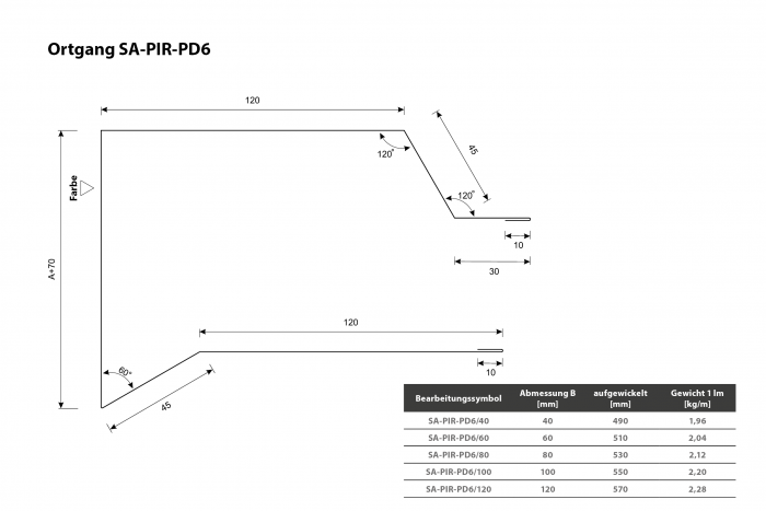 Ortgang SA-PIR-PD6 Querschnitt