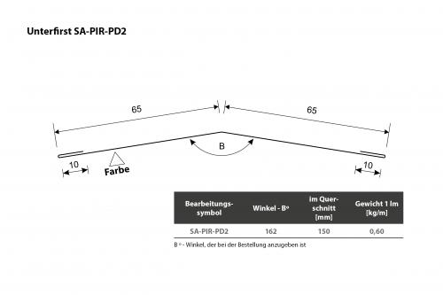 Unterer First SA-PIR-PD2 Querschnitt